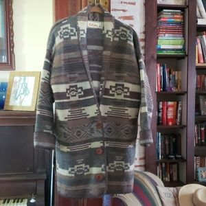 Cabela's Wool Aztec Long Cardigan